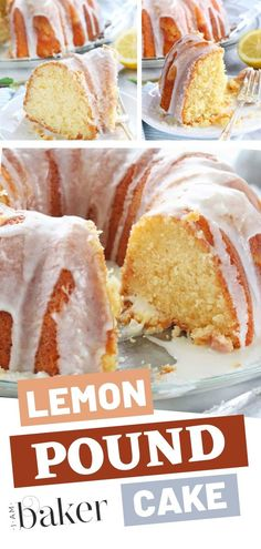Finding the best homemade Lemon Pound Cake recipe is a triumph! This recipe is moist and is fantastic right until the very last crumb! Use a Bundt cake pan or a loaf pan to make a moist, from scratch beautiful lemon flavor pound cake with lemon glaze! Pound Cake Recipes, Easy Cake Recipes, Dessert Recipes, Lemon Bundt Pound Cake Recipe, Moist Lemon Pound Cake, Best Lemon Cake Recipe, Homemade Lemon Cake, Lemon Cake From Scratch, Cake Recipes From Scratch