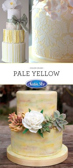 Soothing shades of yellow are sure to go great with flowers or a touch of greenery!
