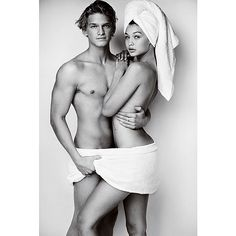 Gigi and Cody Simpson are the first couple to star in Mario Testino's Towel Series.