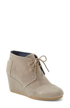 TOMS 'Desert Wedge' Bootie (Women) available at #Nordstrom