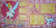TinkerBell Scrapbook Layout - created using the TinkerBell and Friends Cricut Cartridge
