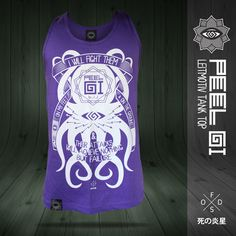 Image of タコ LEITMOTIV BJJ Purple Belt Tank Top