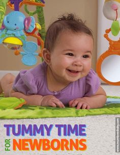 Help your baby develop his motor skills & strengthen his muscles from day 1 with tummy time!