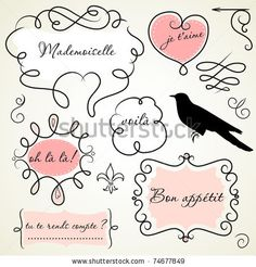 Vector Download » Doodle frames in French style - » Free Vector Graphics free download and share your vector