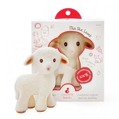 Meet your baby's new friend - Mia the Lamb, caaocho® pure natural rubber teething toy. The teething toy starts as pure natural tree sap from the rubber tree Hevea that is minimally processed into durable pure natural rubber. Eco Baby, Baby Teethers, Teething Toys, Bath Toys, Natural Rubber, Natural Baby, Baby Boutique, Biodegradable Products, Friends
