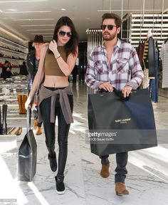 Kendall Jenner and Scott Disick are seen on December 23, 2014 in Los Angeles, California.