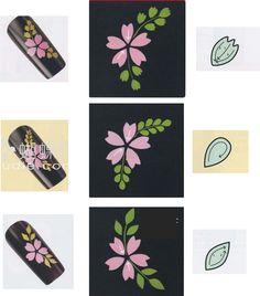 Orchid Nail: Quelques bases en décorations peinture acrylique Nail Art Modele, Les Nails, One Stroke Nails, Flower Nail Art, Nail Tutorials, Cool Nail Art, Nail Arts, Manicure And Pedicure, Brush Strokes