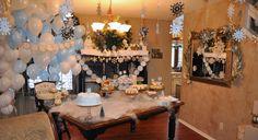 Winter Wonderland 1st Birthday. Little Boy First Birthday Party.