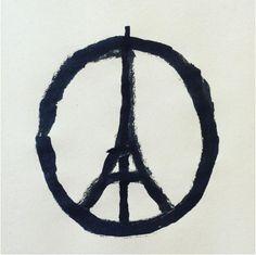 Paris Peace Symbol: Celebrities Share Sketch to Honor Paris