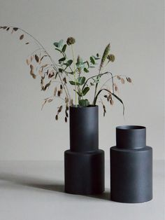 Flower Vases, Flower Pots, Sweet Home, Black Vase, House Ornaments, Vases Decor, Centerpieces, Muted Colors, Home Decor Inspiration
