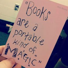 Books are a portable kind of magic. Reading Quotes, Book Quotes, Me Quotes, Great Quotes, Quotes To Live By, Inspirational Quotes, Good Books, Books To Read, My Books