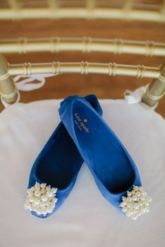 Need your 'something blue'? These are perfect Bridal shoes Check out these Beautiful Kate Spade flats.