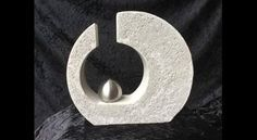 Beton Giessform -Skulptur versetzter KREIS- 25 cm