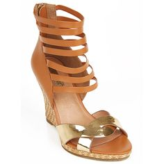 Strappy Wedge Tan