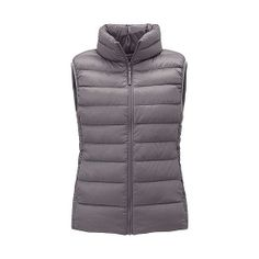 This women's vest is part of the UNIQLO's famed Ultra Light Down collection. The ultimate in lightness and warmth. Meaning you can stay warm and stylish this winter. Man Child, Down Vest, Uniqlo, Outerwear Women, Downlights, Winter Collection, Vest Jacket, Well Dressed, My Wardrobe