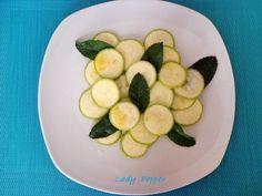 Zucchine menta e limone  ricetta di @lady pepper