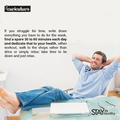 Take a well deserved break! Just relax. #StayFitStayHealthy