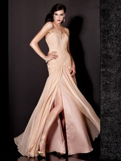 Sheath / Column Sweetheart Long Chiffon Prom Evening Dresses 601051