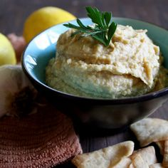 Lemony Low Calorie Hummus with Garlic & Cumin (Only 1 Weight Watcher point plus value for 1/4 cup!)