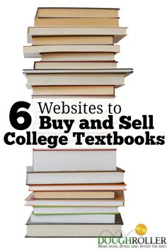College classes are right around the corner. Here are 6 websites to help you buy and sell your textbooks cheaply! Used College Books, Sell Used Books, Sell Your Books, Cheap Textbooks, Free Textbooks, Sell Your Textbooks, School Jobs, Student Jobs, College Students