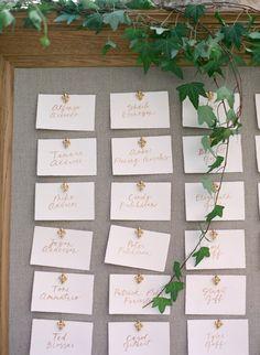 Escort card display: http://www.stylemepretty.com/california-weddings/carmel-valley/2016/10/21/elegant-holman-ranch-wedding/ Photography: Laura Murray - http://lauramurrayphotography.com/