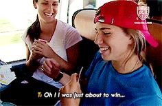 Alex Morgan and Tobin Heath