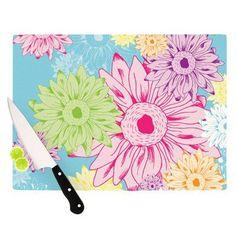"KESS InHouse Summer Time Cutting Board Size: 11.5"" H x 15.75"" W"