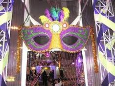 Definitely more to the New Orleans side and less Masquerade ball Masquerade Decorations, Masquerade Theme, Mardi Gras Decorations, Masquerade Ball, Carnival Floats, Rio Carnival, Carnival Themes, Mardi Gras Party Theme, Xmas Party
