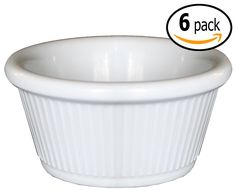 Clipper Fluted Round Stackable Small Melamine Condiment Ramekins with Pan Scraper, White (6-Pack, 2 Ounce) ** Learn more by visiting the image link.