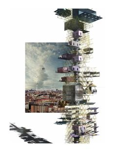 The Orchestrated City: Composing a New Urban Fabric / Mark Jason Warren Conceptual Architecture, Architecture Graphics, Architecture Drawings, Landscape Architecture, Architecture Student, Architecture Design, Architecture Diagrams, Vertical City, Urban Fabric
