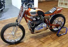 Triumph flat tracker from Drags and Racing Motorcycles