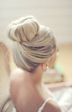 big bun wedding hair