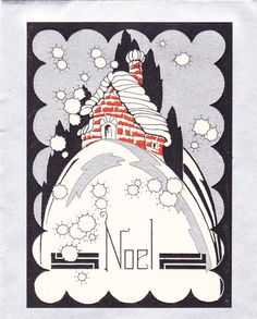 Art Deco Noel- 1920s Christmas Card
