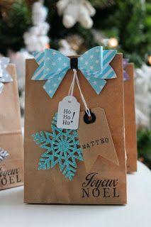 13 Ideas de cómo decorar bolsas de papel para regalos de navidad ~ Haz Manualidades