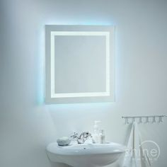 El-Cabrera mirror from Endon Lighting. Backlit square bathroom wall mirror. Rated IP44 (suitable for use in zone 2&3 in your bathroom)  112 x 0.07w LED Lamps (Included)  Height: 600mm  Dia: 600mm  Proj: 43mm £191.04