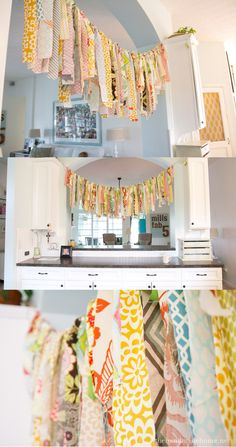 Great blog! I love this fun garland made of strips of fabric scraps!