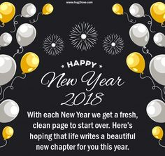 Cute Happy New Year 2018 Quotes Messages Greeting