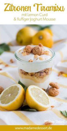 Rezept für leckeres Zitronen Tiramisu mit Lemon Curd & Joghurt-Mousse | Madame Dessert