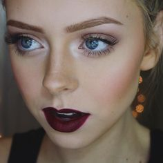 I'm sorry but I'm real obsessed with this lip color   Nyx liner in Plum and Wet N Wilds lipstick in Cherry Bomb