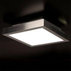 LICHT TREND LED Deckenlampe 28 X 28cm 820 Lumen Alu