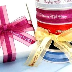 Personalized Organza Ribbons - 50 Count