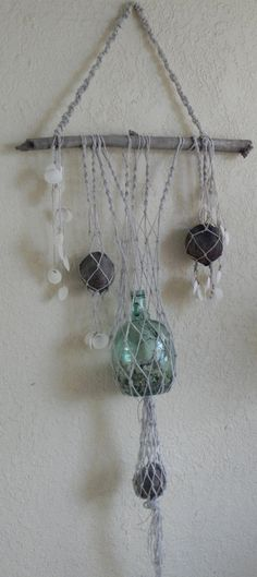 Natural Macrame Florida Keys beach combing by Colorspiration, $150.00