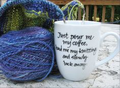 Step away from the Knitter.... and it's customizable (for tea) !!