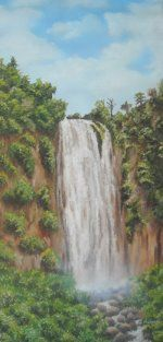 Waterfall (Oil on Canvas)