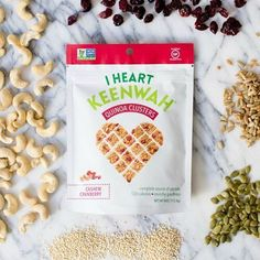 It's National Cashew Day! They're heart-healthy, high in essential minerals, and they're the reason why our Cashew Cranberry Quinoa Clusters are so addictive! #HeartYourself