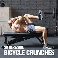 Target Your Abs with the Elevated Bicycle Crunch   Men's Health