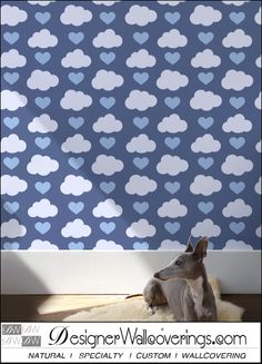 I Love Thee - Hearts and Clouds  [FUN-49126] Just Fun Vol. 1 | DesignerWallcoverings.com ™ - Your One Stop Showroom for Custom, Natural, & Specialty Wallcoverings | Largest Selection of Wall Papers | World Wide Showroom | Wallpaper Printers