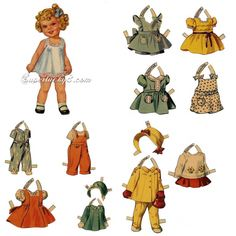 Vintage paper doll digital download printable by Superlucky8 on Etsy