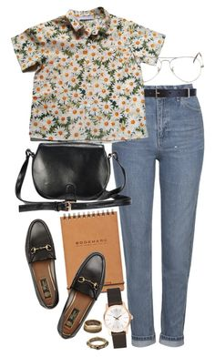 """Untitled #9463"" by nikka-phillips ❤ liked on Polyvore featuring Topshop, Maison Boinet, Cacharel, Gucci, Ray-Ban, Calvin Klein and Forever 21"