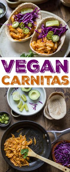 Vegan Carnitas Tacos are quick, easy, and perfect for Meatless Monday! The secret ingredient? Hearts of Palm!